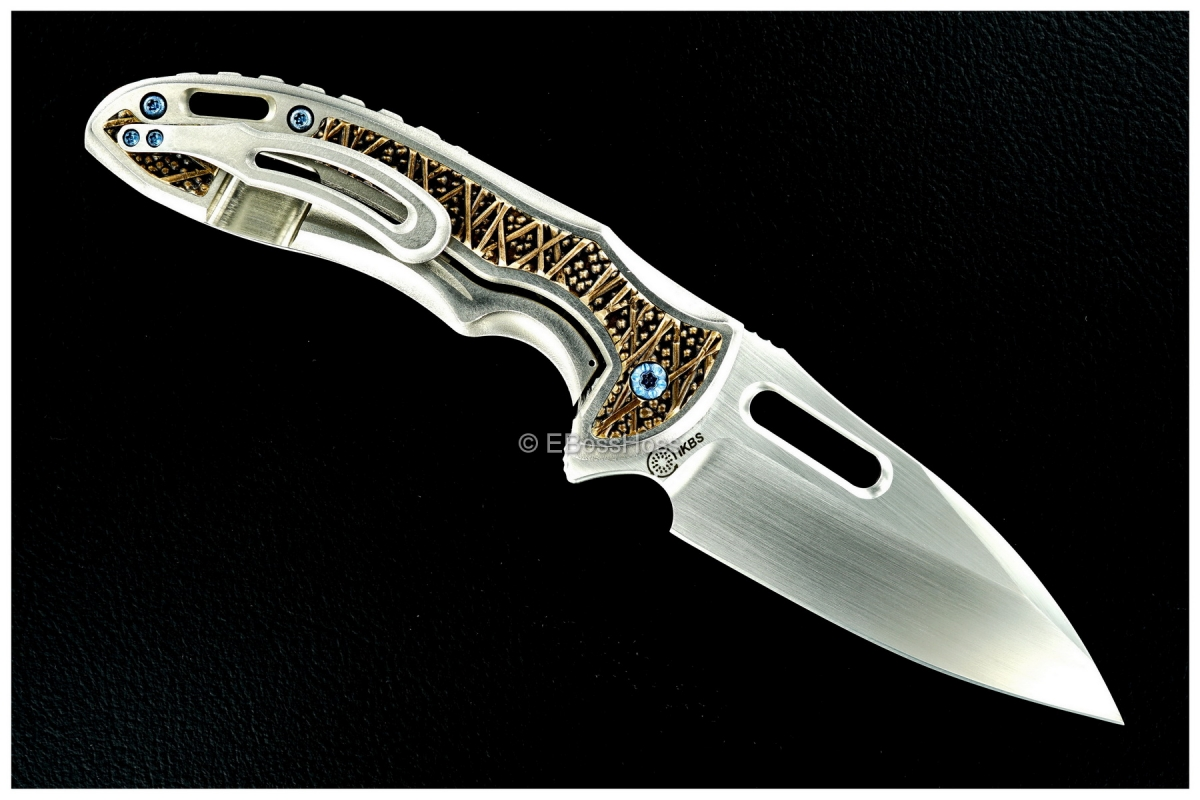 Korth Cutlery ''The Jungle Elephant'' Carved Sentry XL Flipper