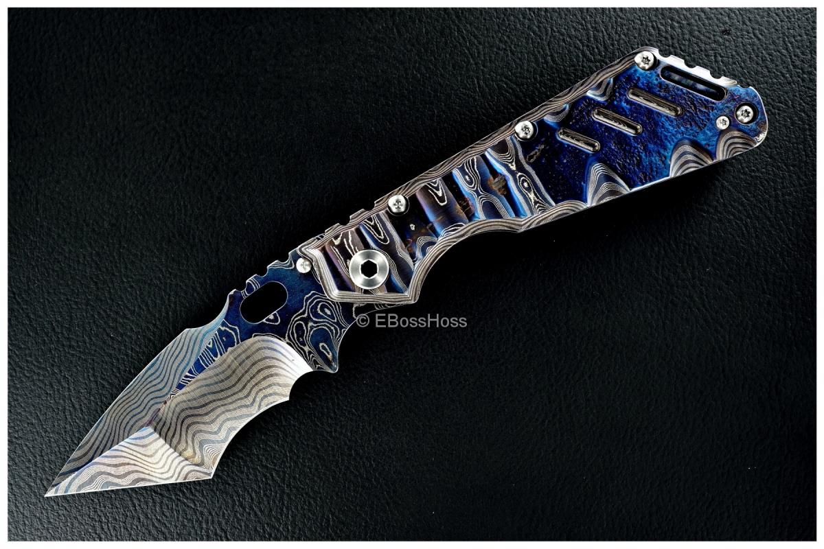 Mick Strider Custom (MSC) Cobalt-Damascus XL Tanto Recurve