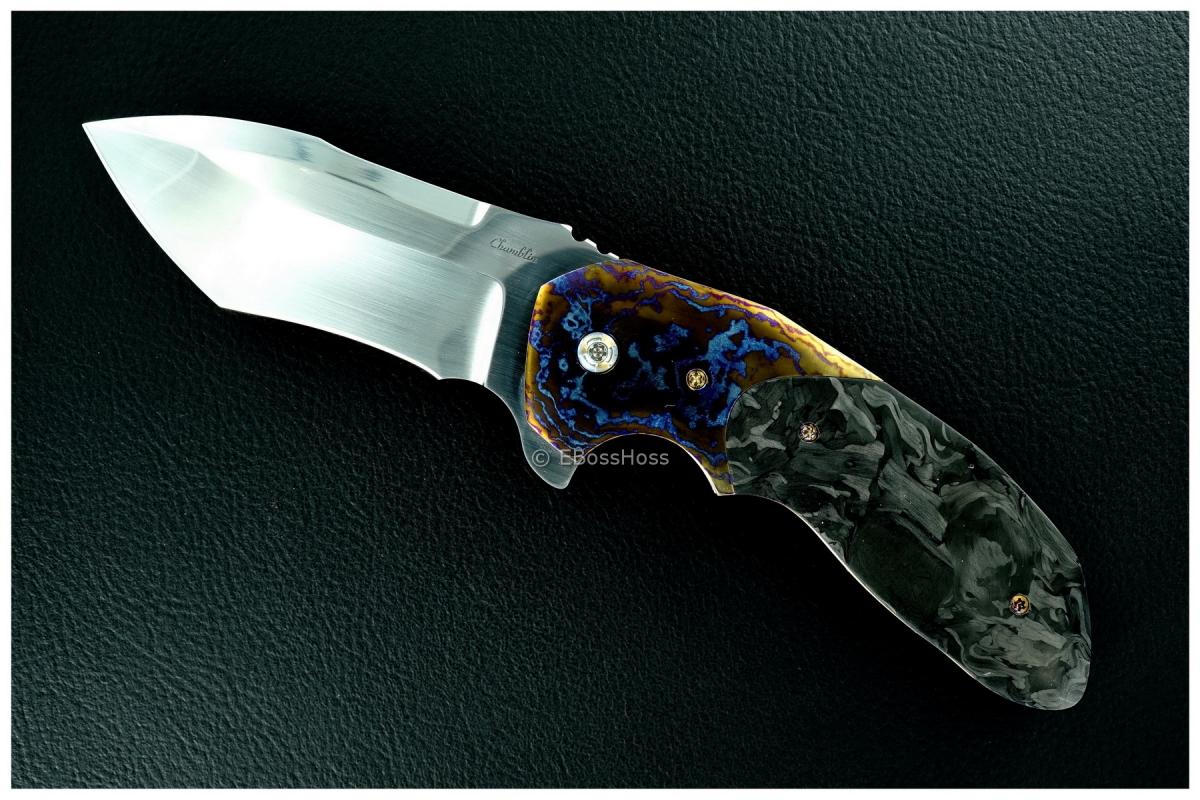 Joel Chamblin Custom Deluxe Uprising Flipper - MokuTi & Carbon-Fiber