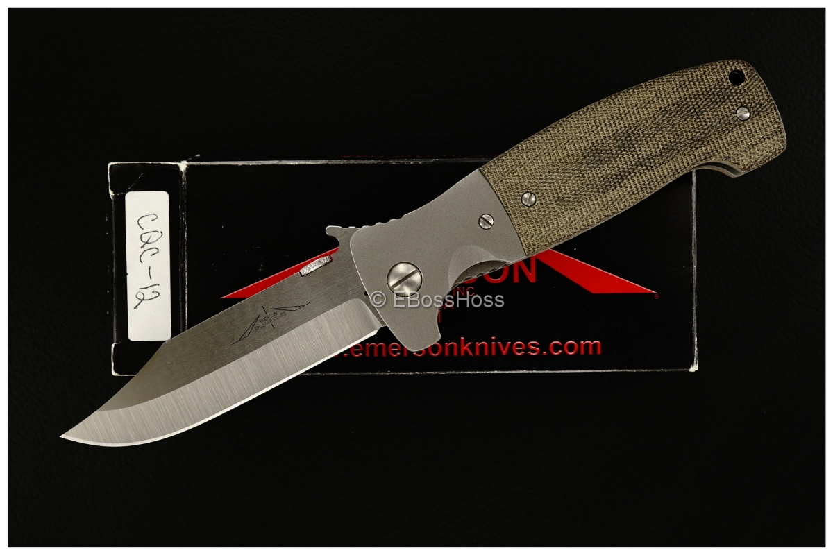Ernie Emerson Custom Bolstered CQC-12 Waved
