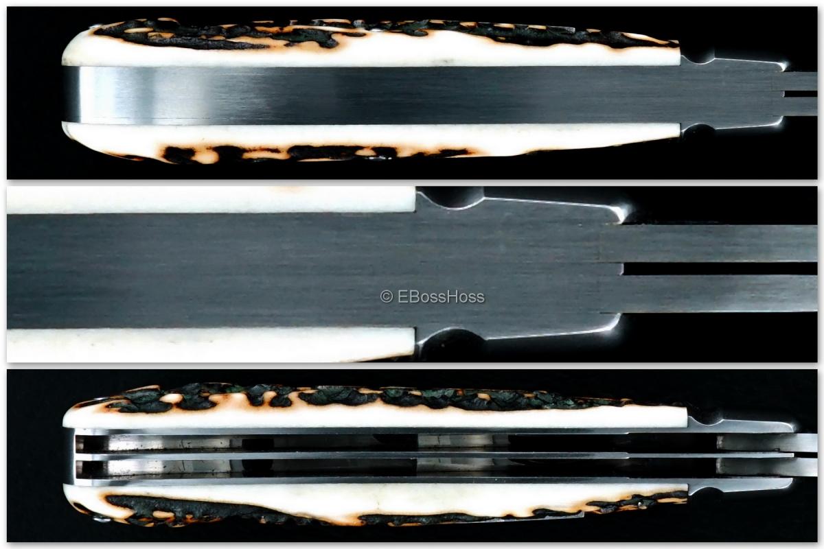 Tony Bose 3 5/8-inch Wharncliffe Trapper - Dark Popcorn Stag