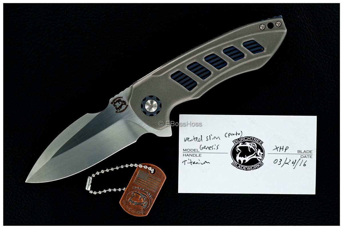 Michael Burch Custom Vented Slim Genesis Flipper Prototype