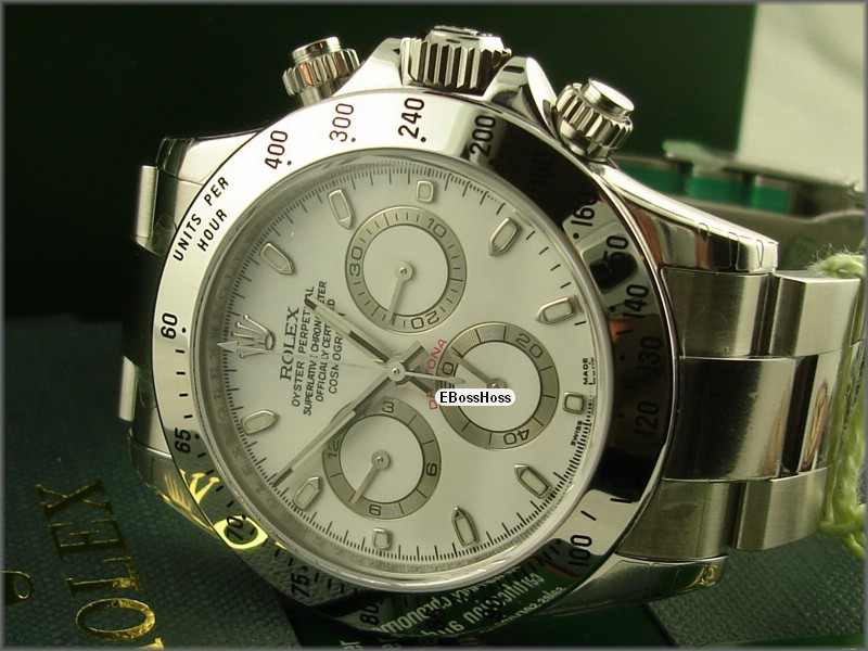 Rolex Oyster Cosmograph Daytona (SS; White)