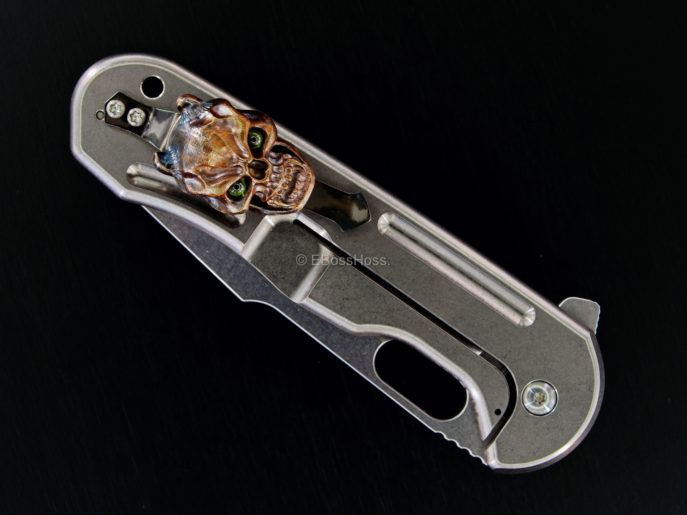 Jeremy Horton - Gerry McGinnis Custom Tac 4 45 Flipper Collab with Steel Flame Vigilant Clip