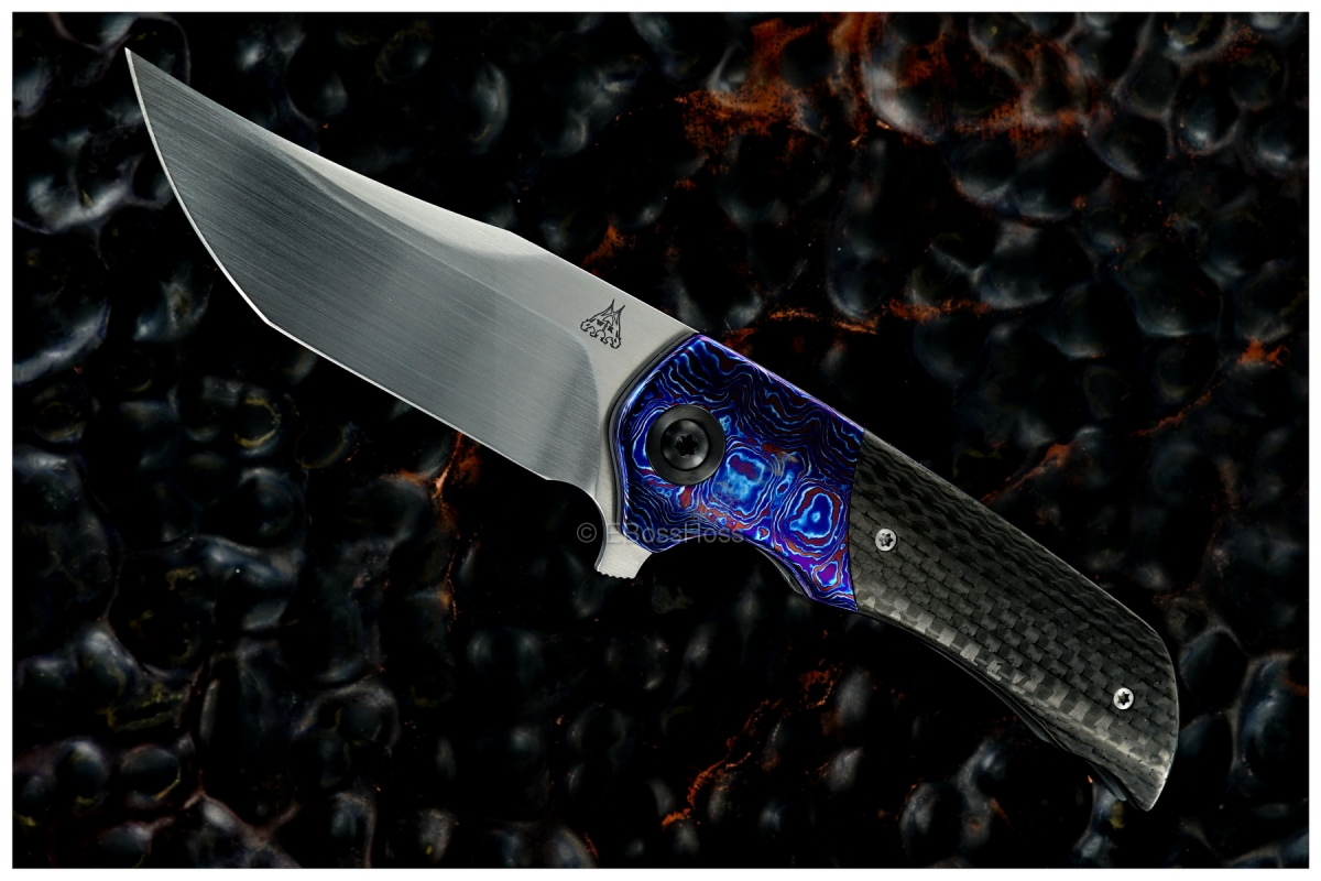 Walter Randolph (WR Bladeworks) Custom Deluxe Tanto-ground Mini Wyvern Flipper