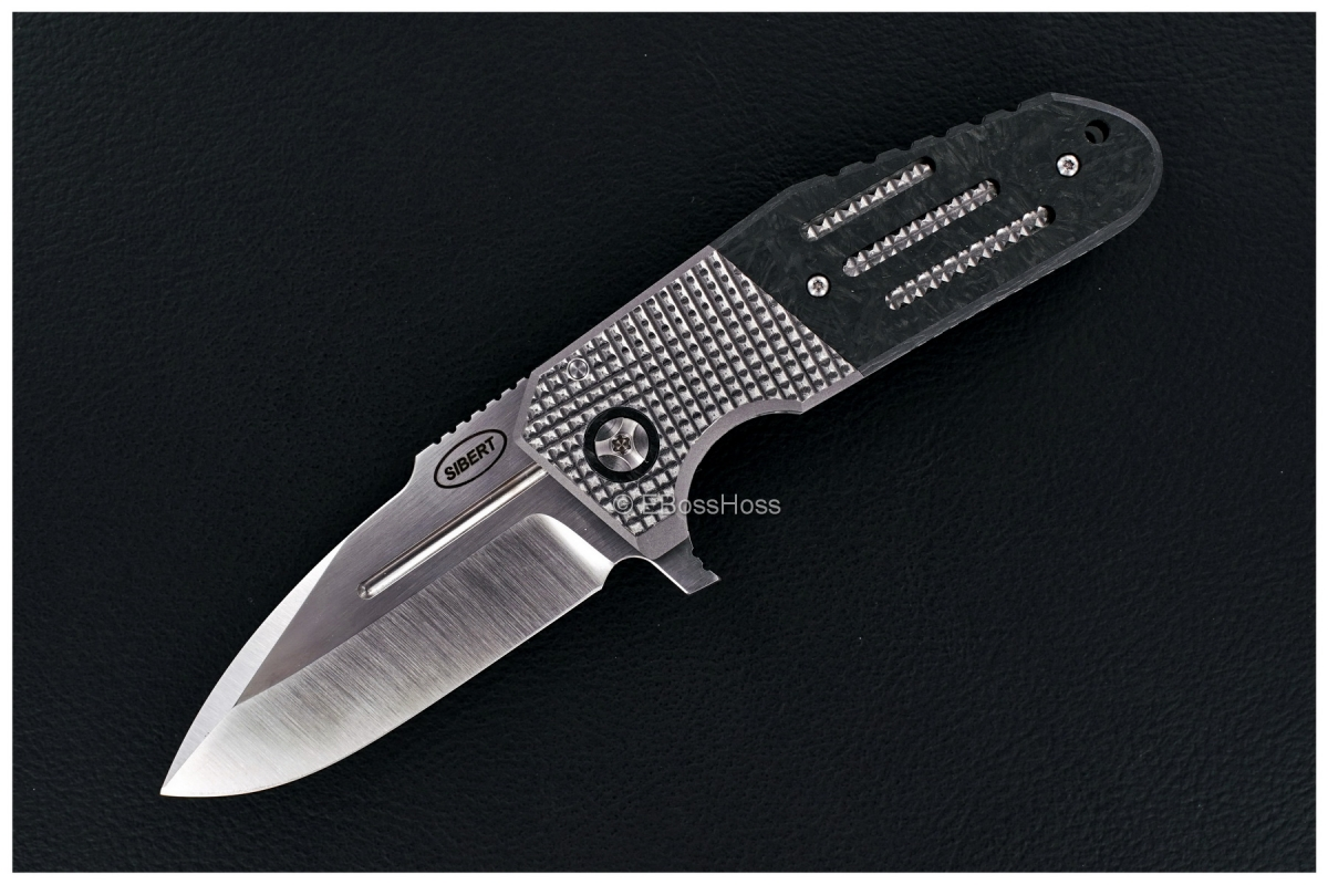 Shane Sibert Custom Bolsterlock Mini Pocket Rocket with 3-D Roller Pocket Clip