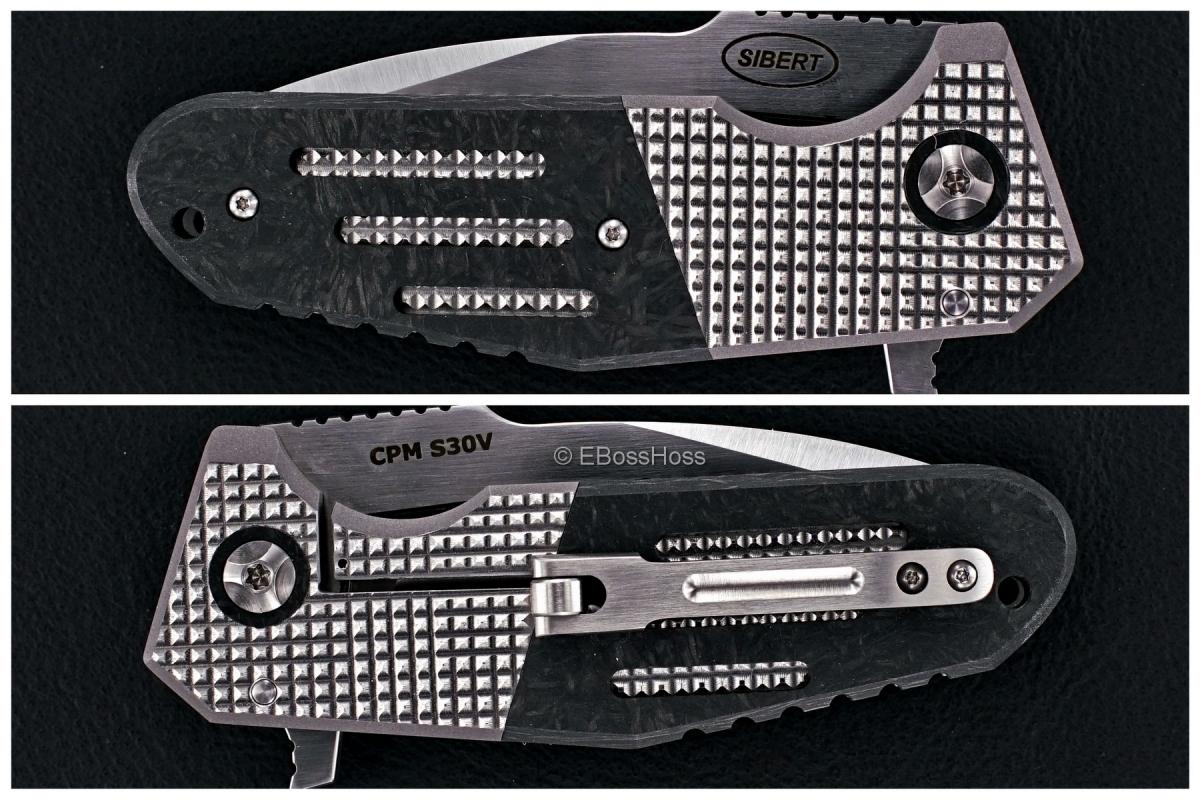 Shane Sibert Custom Bolsterlock Mini Pocket Rocket with 3-D Roller Pocket Clip