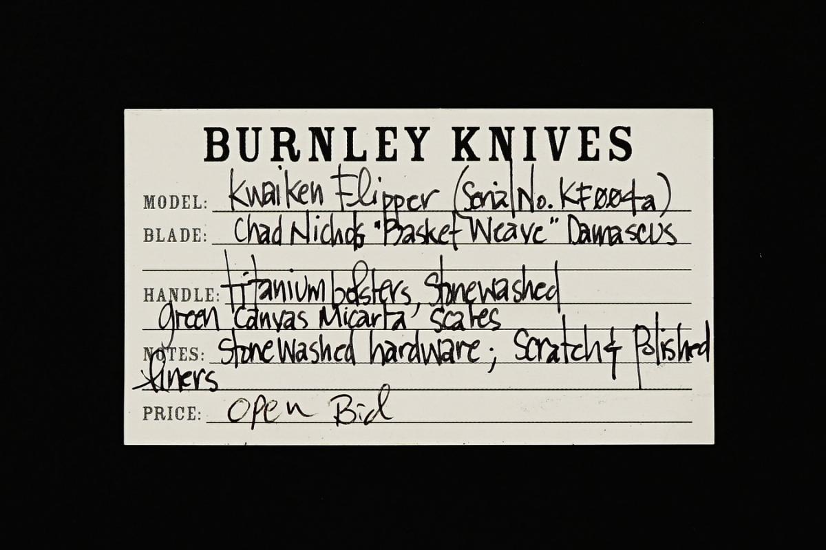 Lucas Burnley Custom Kwaiken Flipper