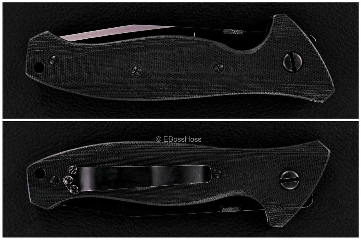Ernest Emerson Black SpecWar Tanto Prototype - 'Salesman's Sample'