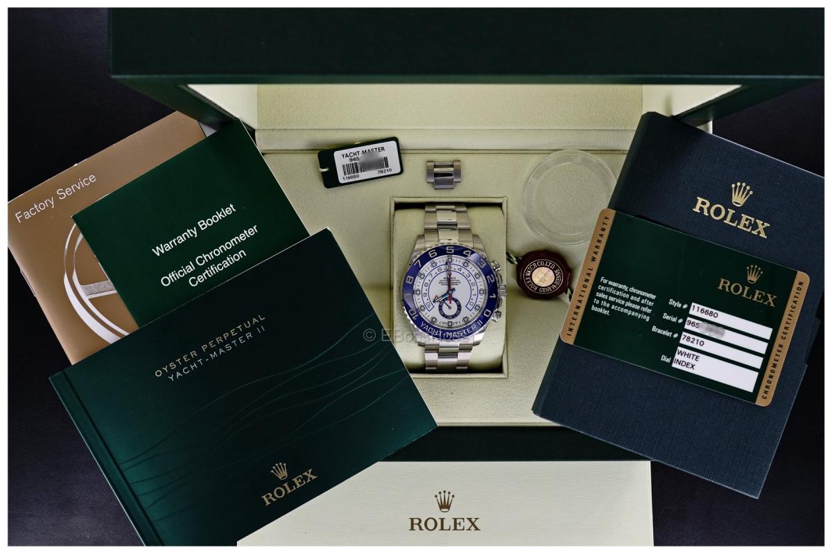 Rolex YACHT-MASTER II: Ref 116680 -- 44 mm Case , Cerachrom Bezel, 904L Steel