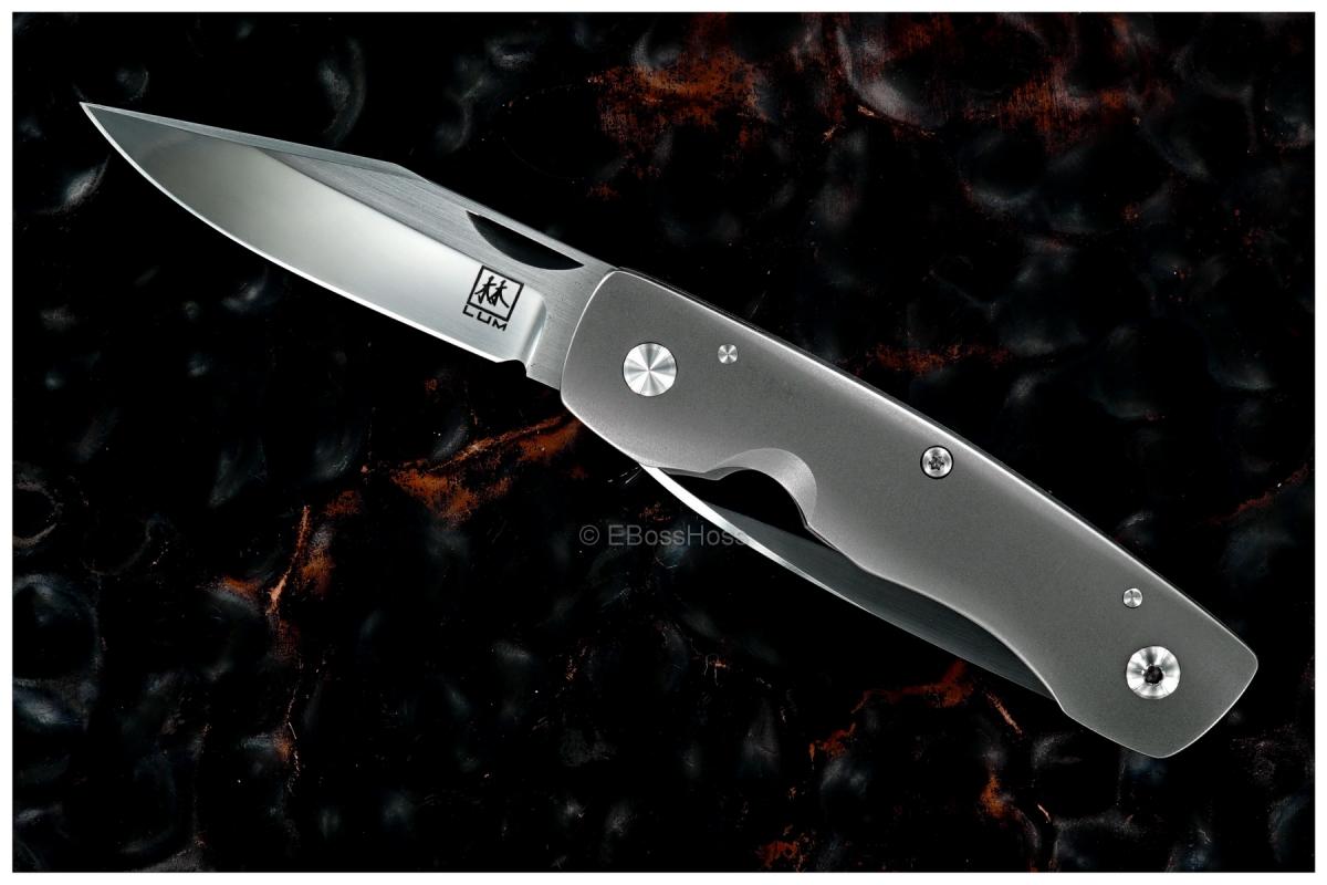 Bob Lum Custom 2-Blade Linerlock Wharncliffe Trapper