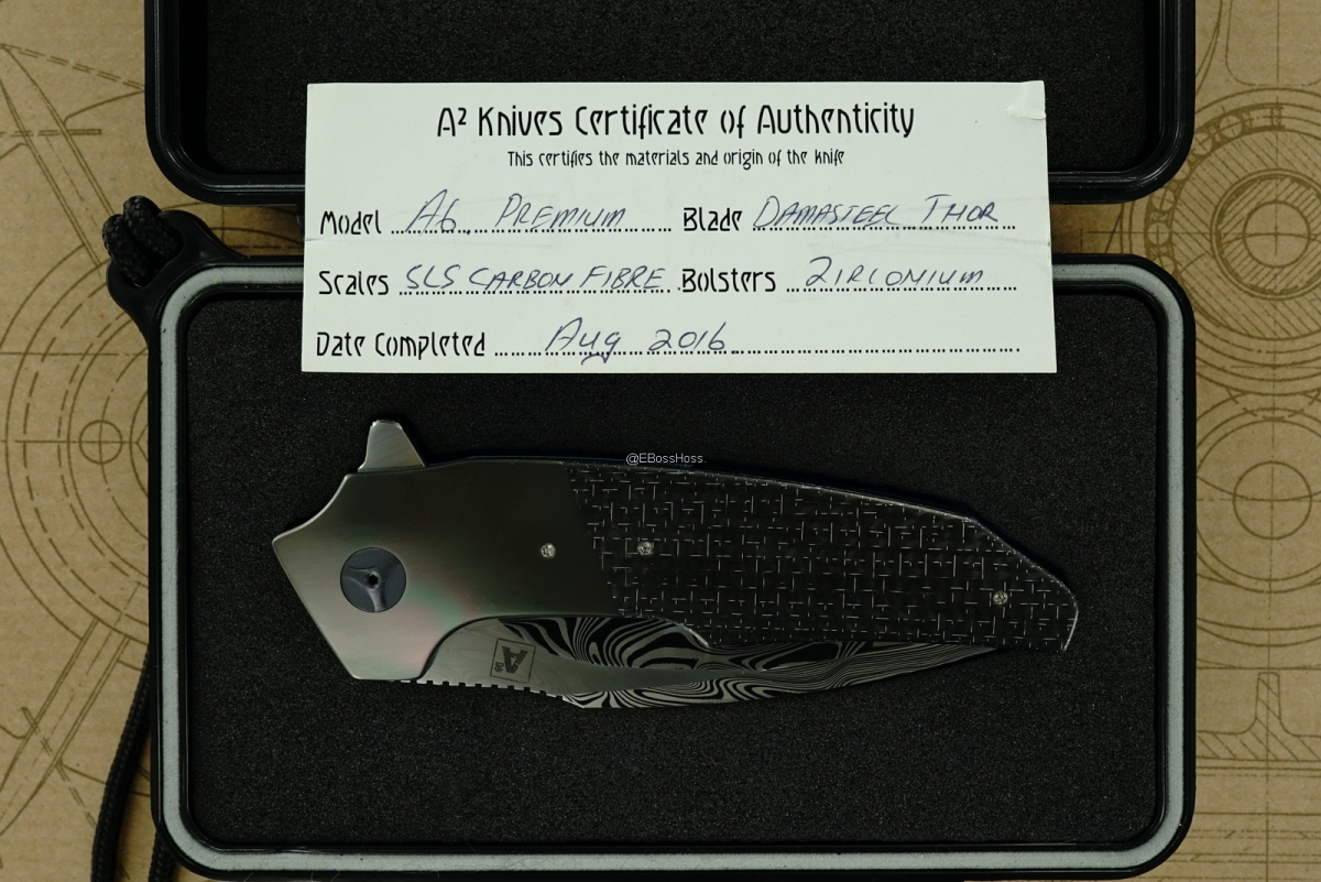 A2 Knives (Andre Thorburn & Andre van Heerden) & Tashi Bharucha Custom Premium A6 Flipper Collaboration