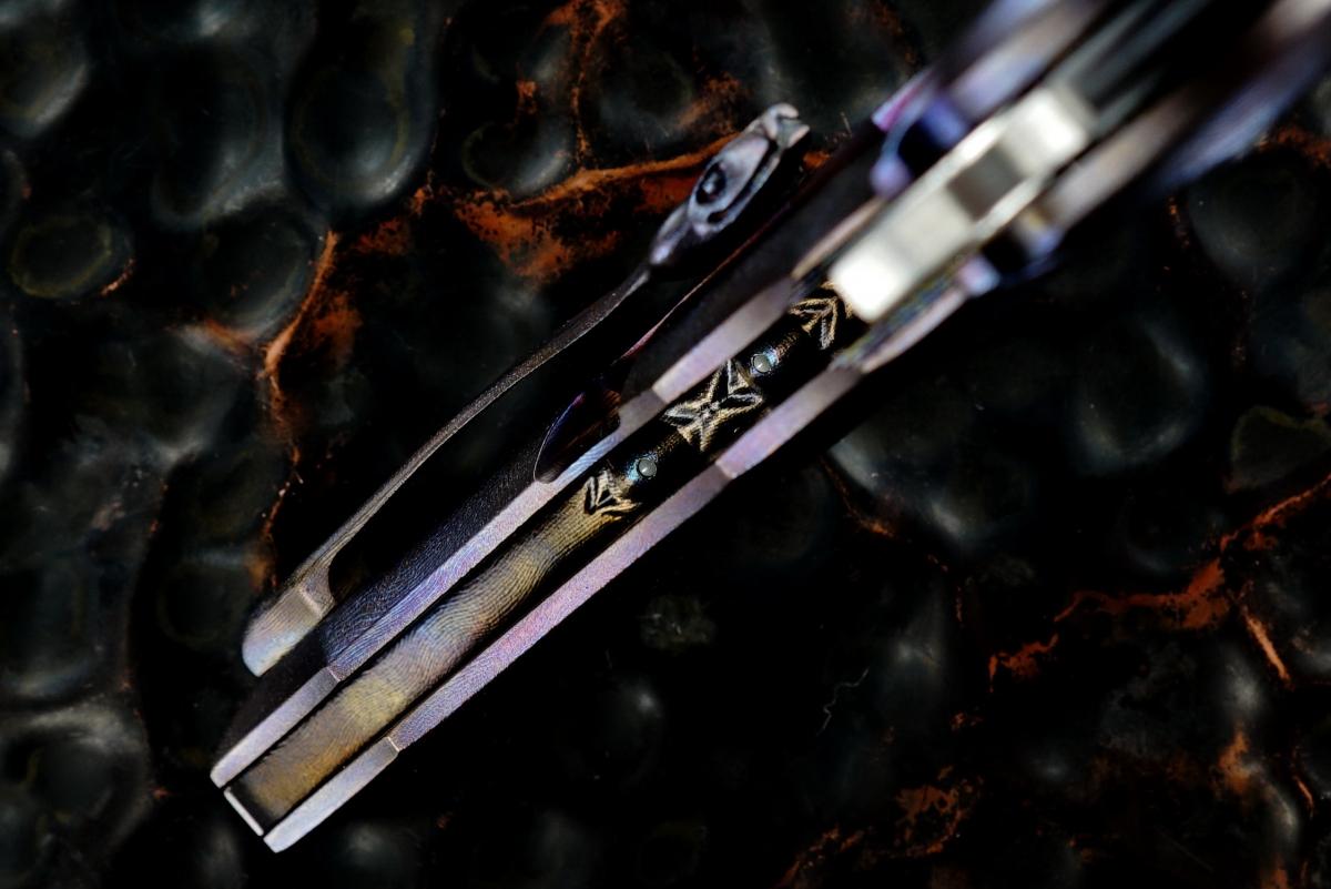 Rick Lala (Korth Cutlery) Custom Deluxe Reptile Flipper