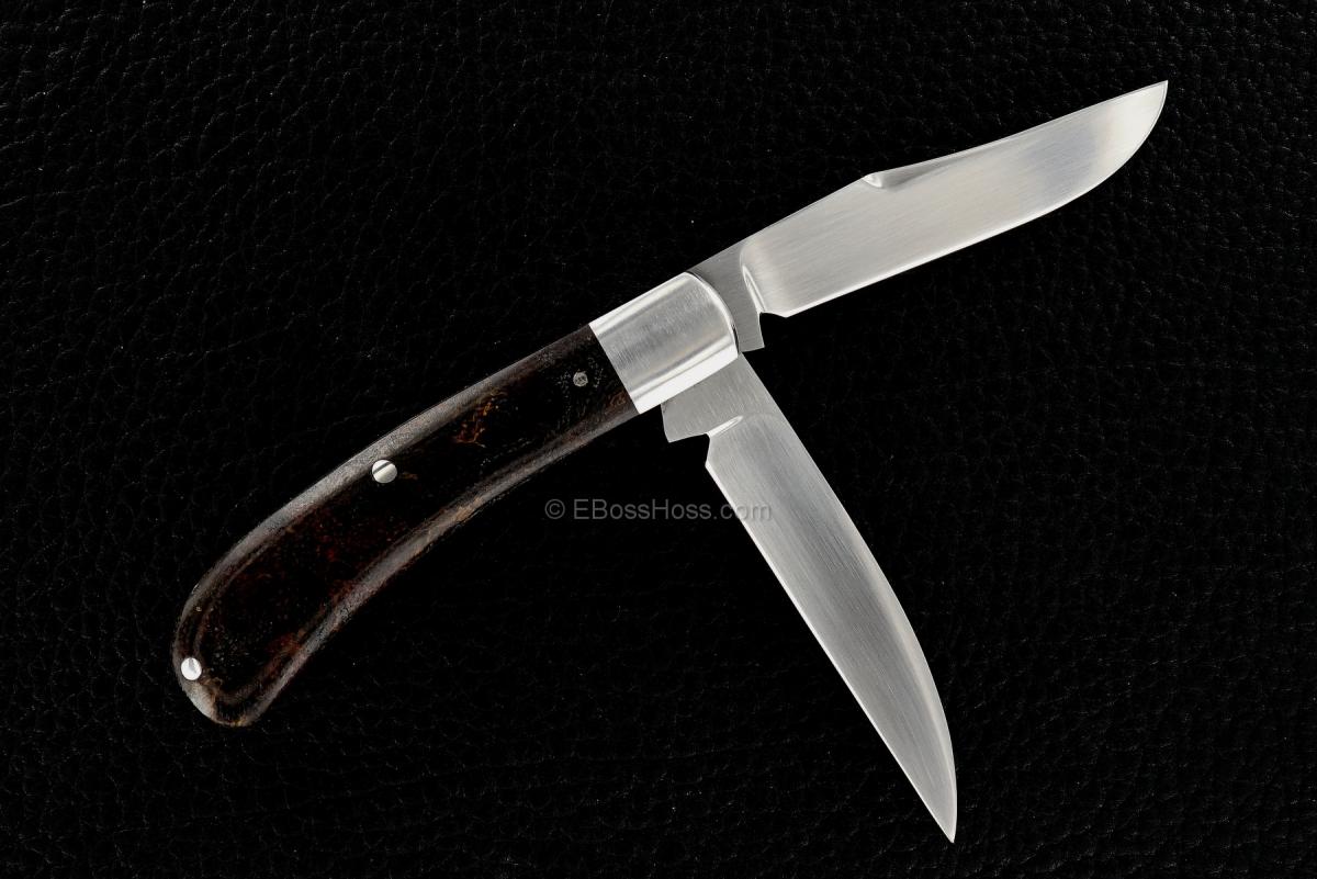 Dr T Knives (David Tabor) Custom Wharncliffe Trapper Slip Joint