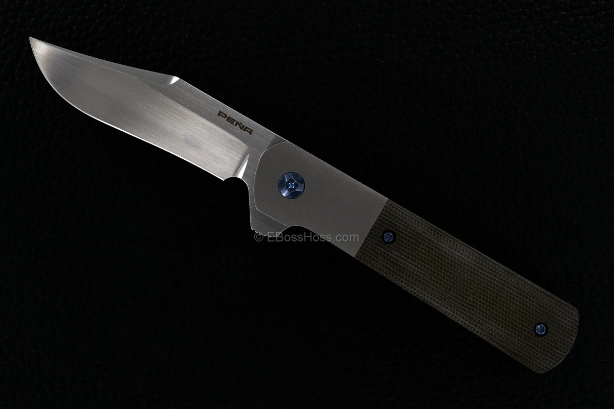 Enrique Peña Custom Integral Bolsterlock Barlow Flipper