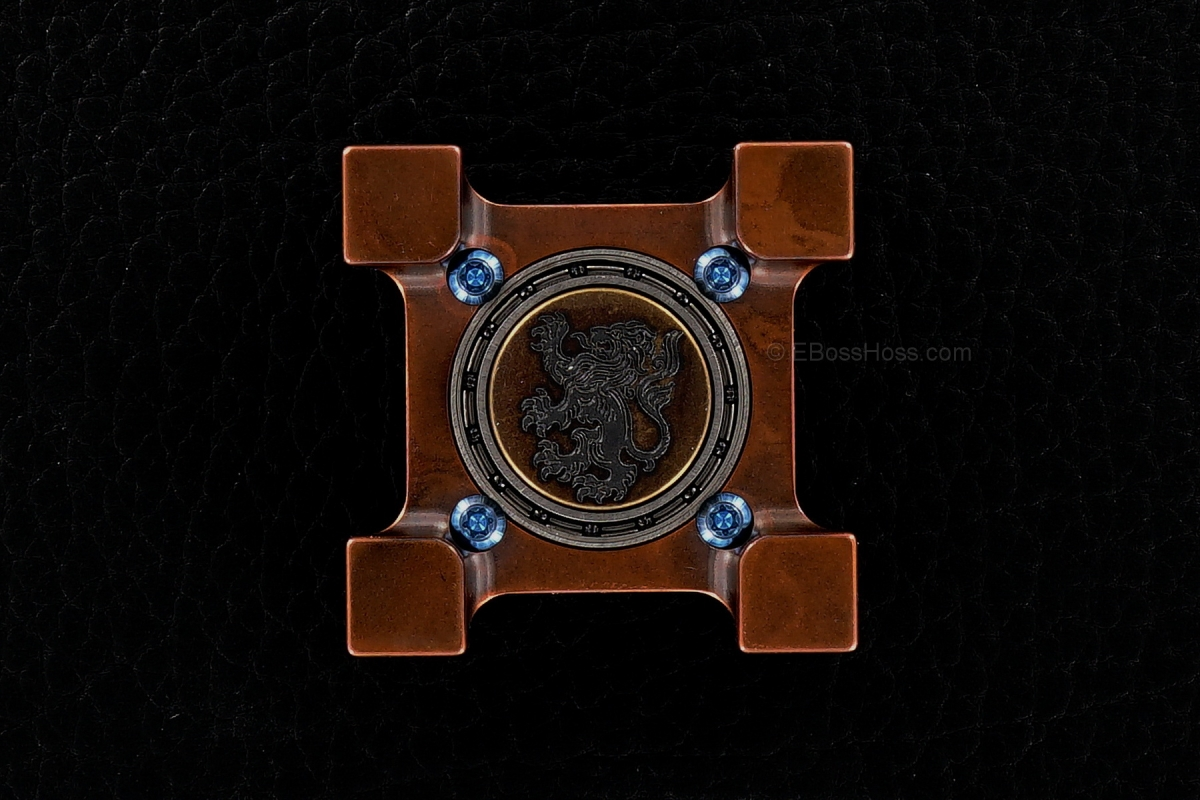 Steel Flame Tellurium Copper Ring Spin with Plug