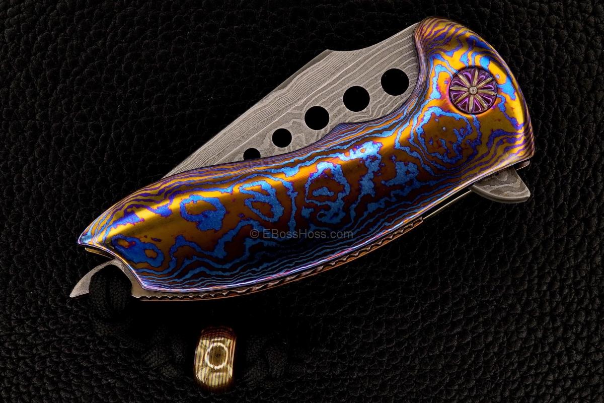 Alistair Bastian Knives Custom Deluxe Hornet Flipper & Bastian Bead