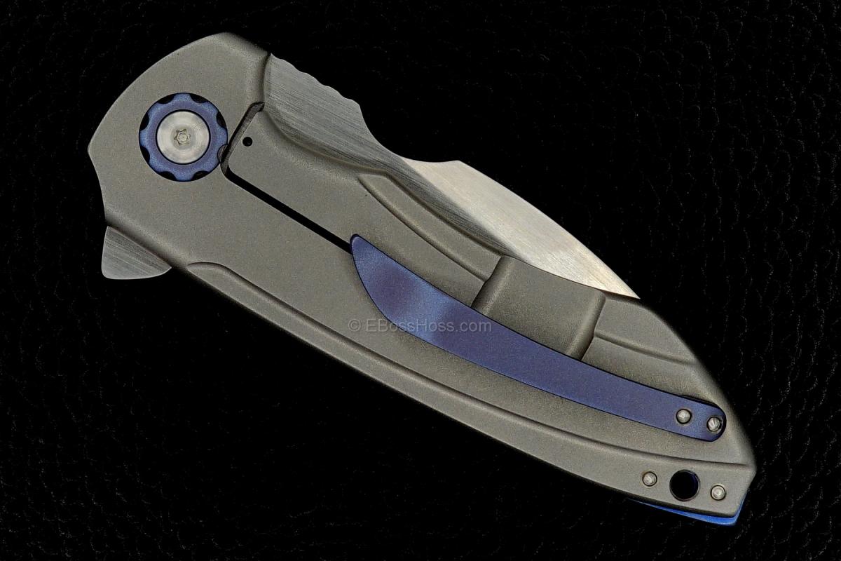 Michael Burch (Burchtree Bladeworks) Custom Vented Slim Genesis Flipper