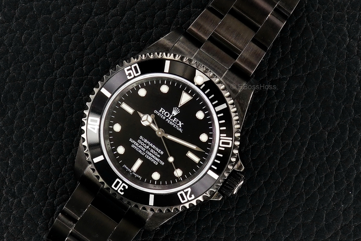 ROLEX Black PVD SS No-Date Submariner - Ref 14060M