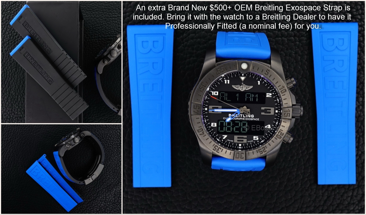 Breitling Exospace B55 Connected with addl. New OEM Strap