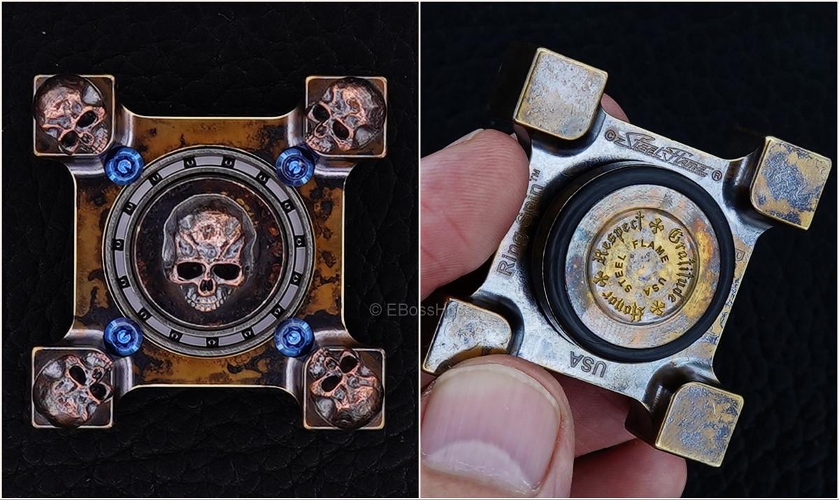 Steel Flame 3-D Copper Mini Warrior Ring Spin KillBoX - 3-D Slug