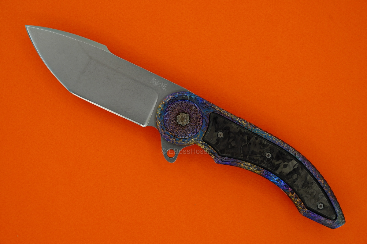 Gudy van Poppel Custom Stippled Framelock Flipper