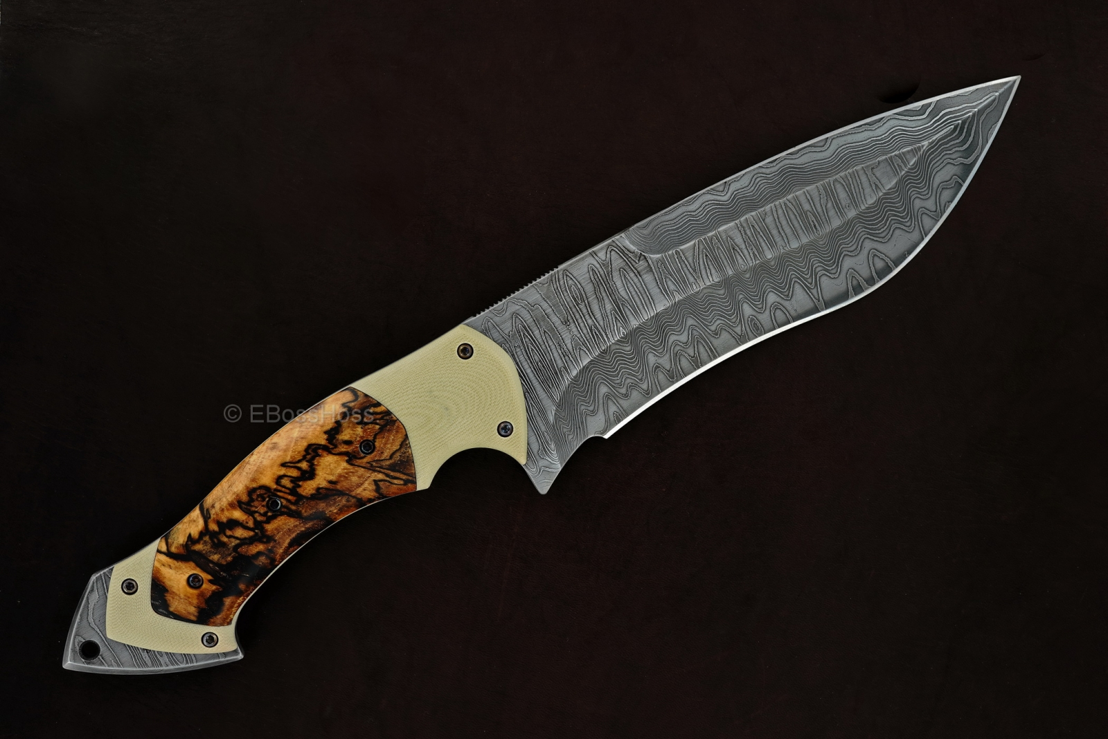Neil Blackwood Custom Deluxe Spearpoint Recurve Fixed Blade