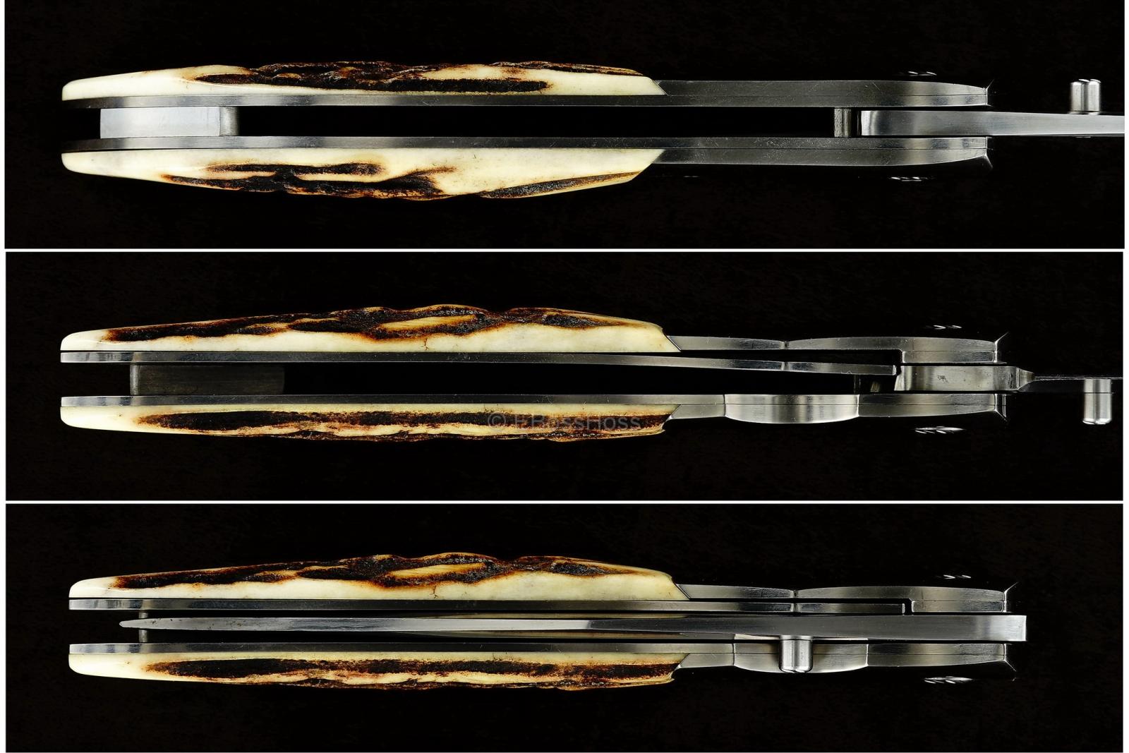 Ernest Emerson Custom Halfmoon Stag Pretac - Viper Series Predecessor
