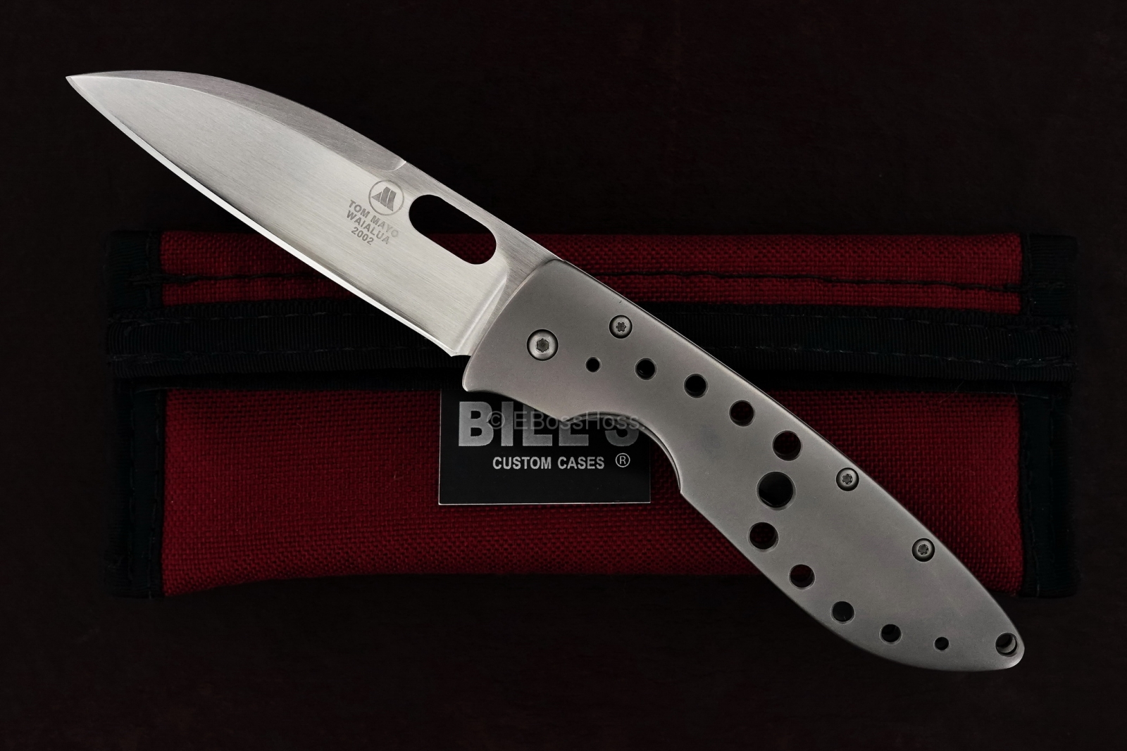 Tom Mayo Custom 6K Wharncliffe Framelock Folder