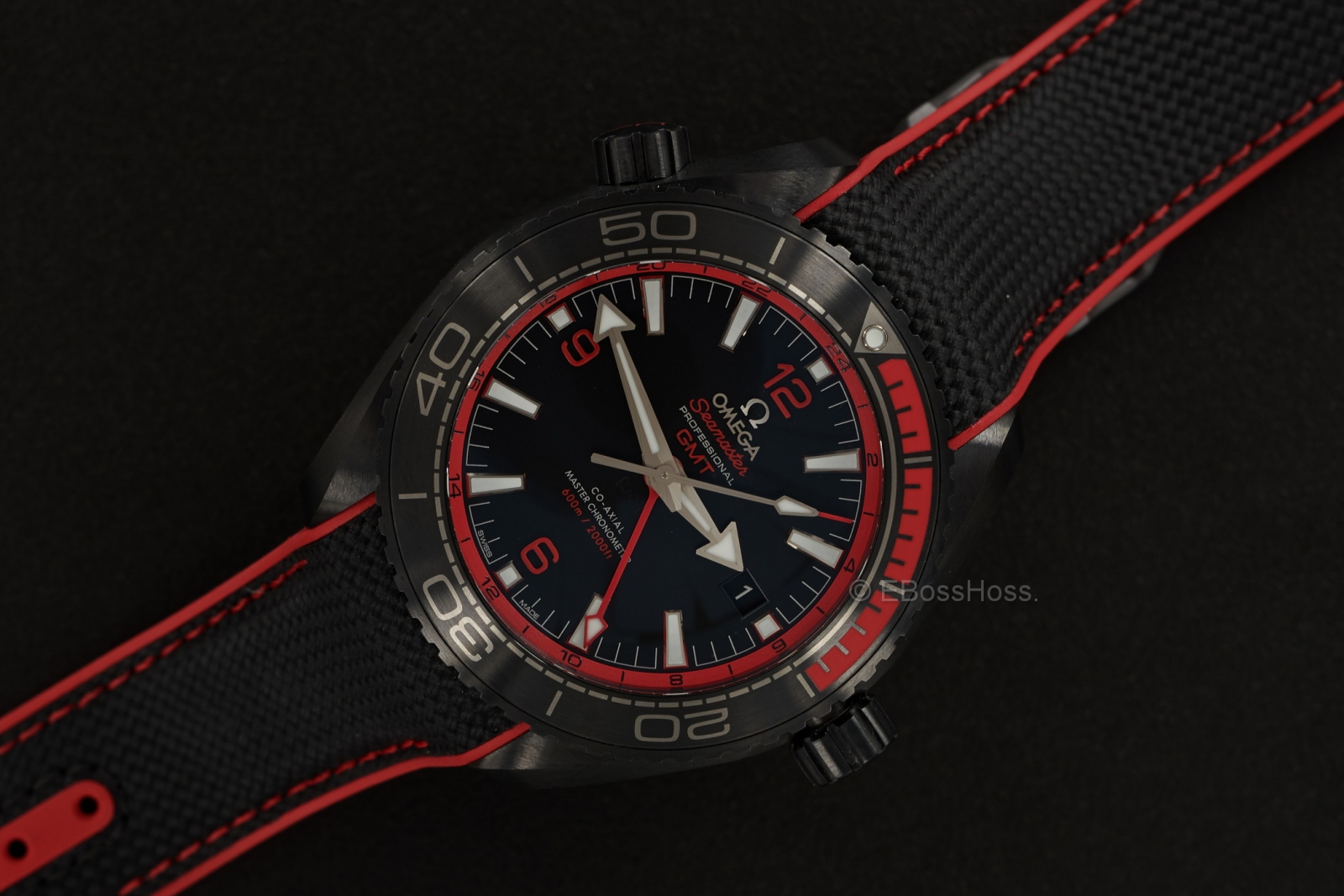 Omega Seamaster Planet Ocean Deep Black GMT