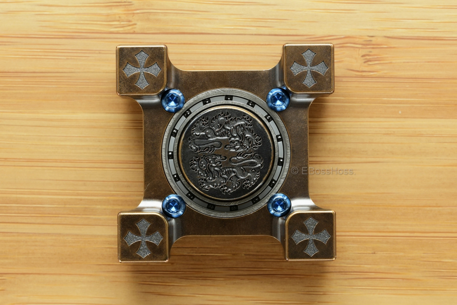Steel Flame Ring Spin™ KillboX™ Double Lion Spinner & Slug