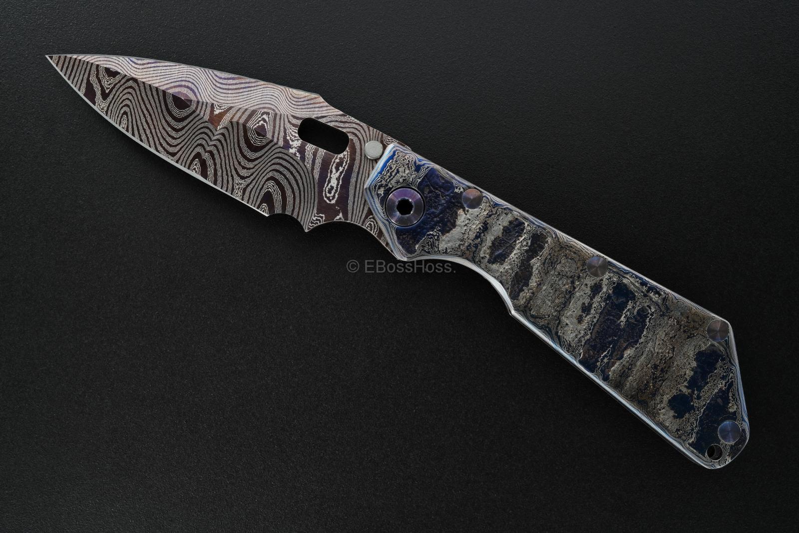 Mick Strider Custom (MSC) Cobalt Damascus XL SnG