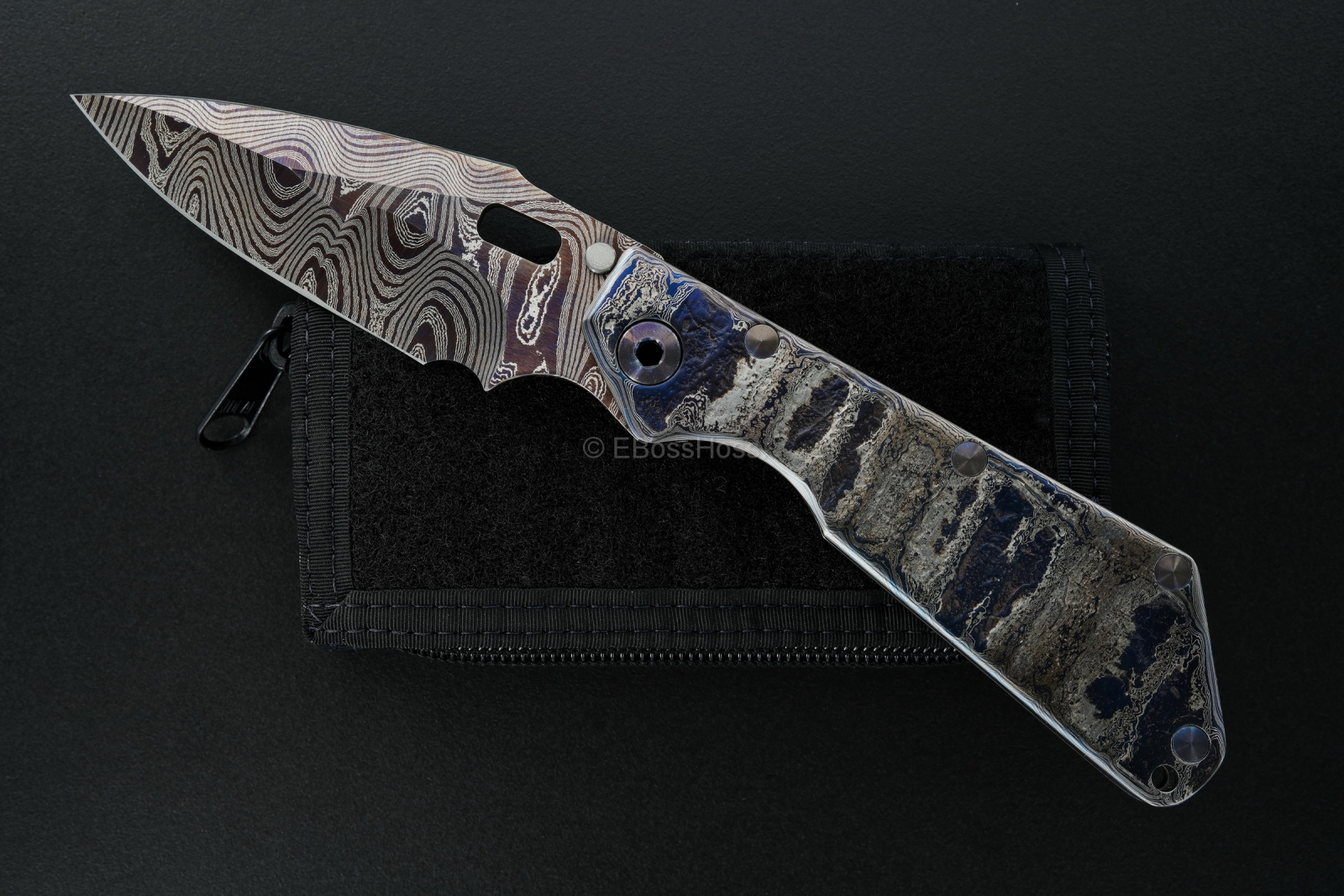 Mick Strider Custom (MSC) Cobalt Damascus XL SnG