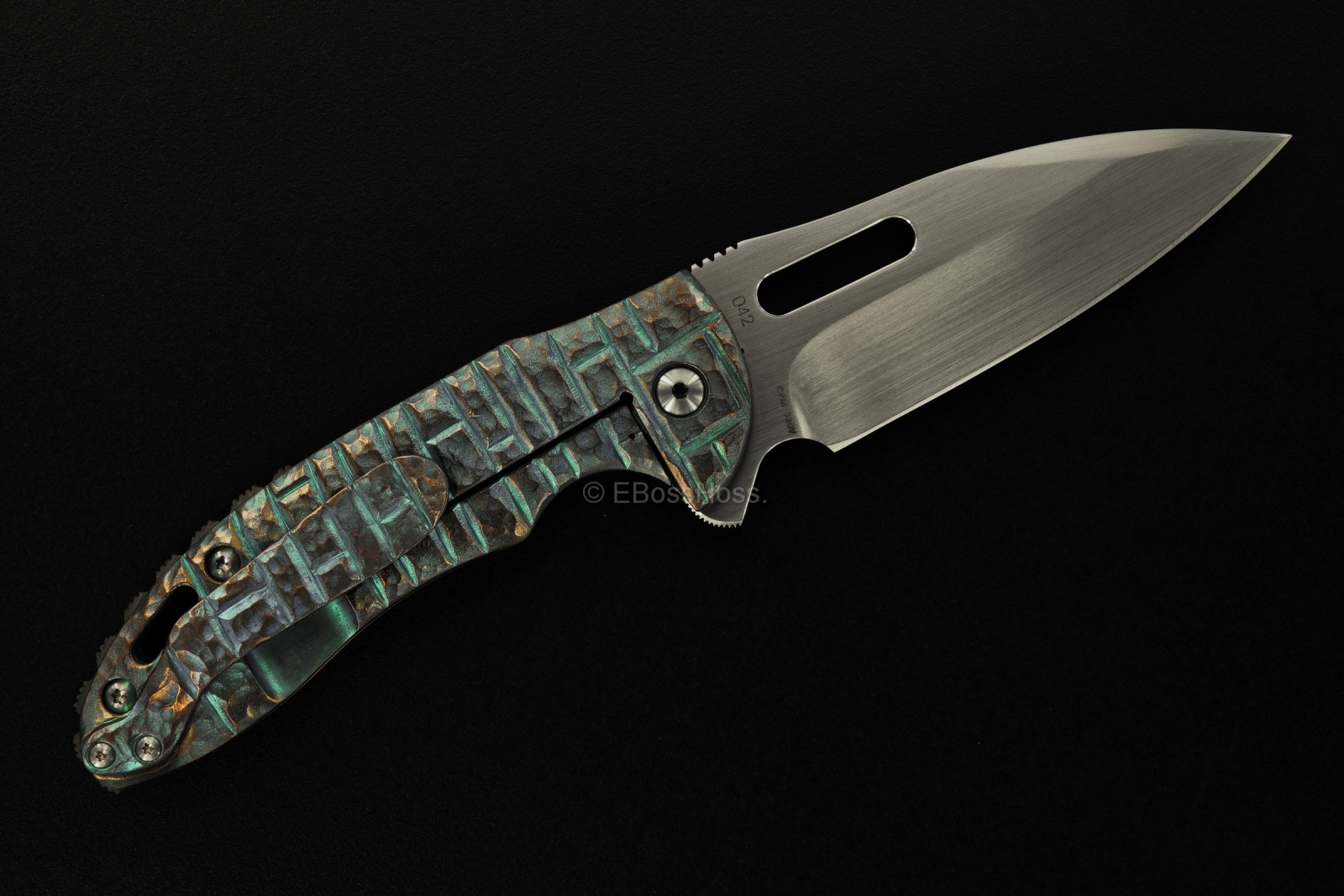 Korth Cutlery Sentry Flipper by Rick Lala, Carved by Rudy Lala