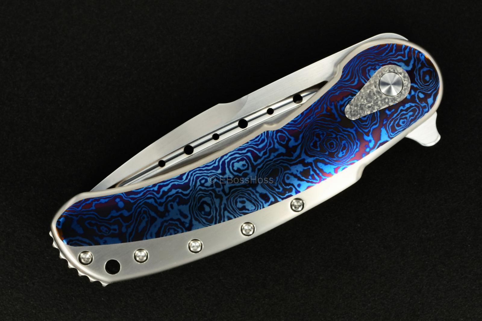 Todd Begg Knives Timascus Bodega Flipper
