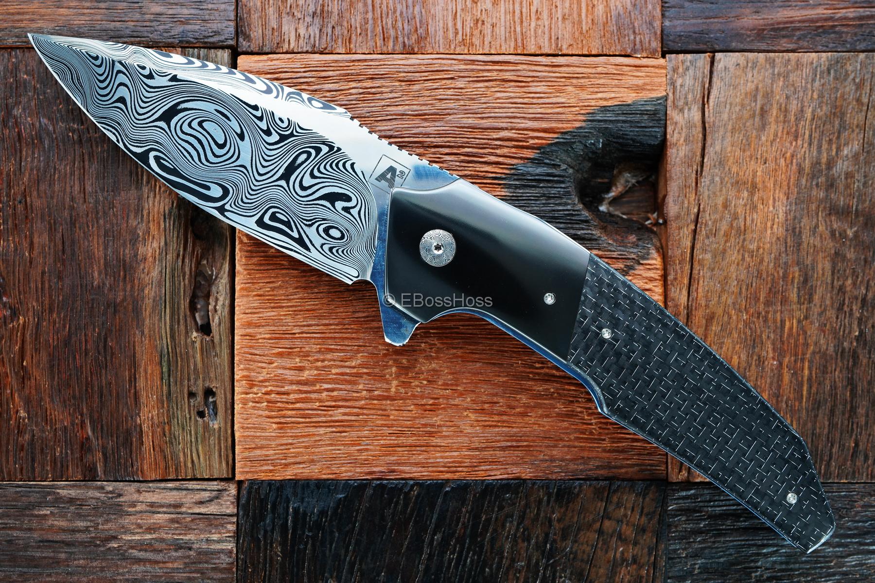 A2 Knives -Tashi Bharucha Custom A6 Premium Flipper Collab