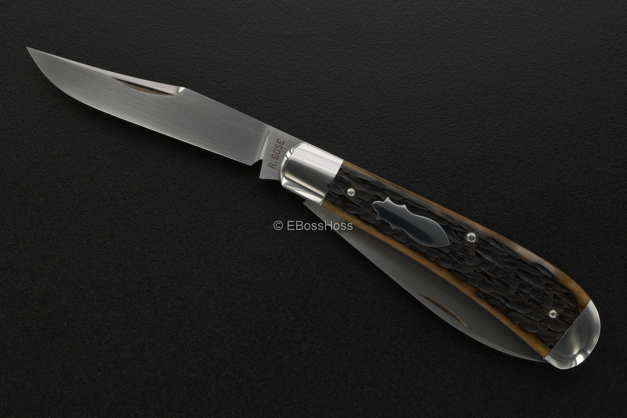 Reese Bose Custom Wharncliffe-Trapper Slip Joint