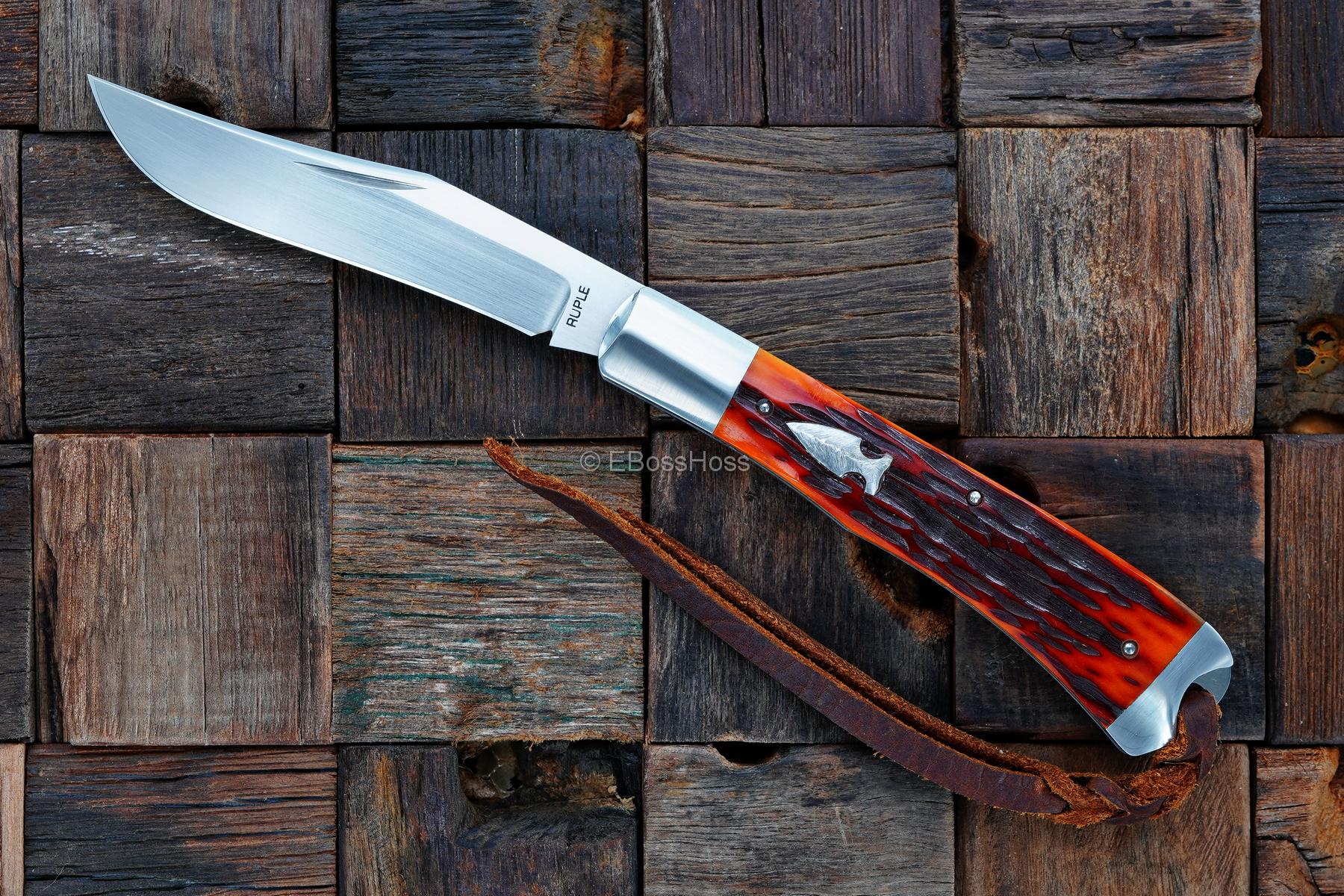 Bill Ruple Custom Single-Blade Trapper