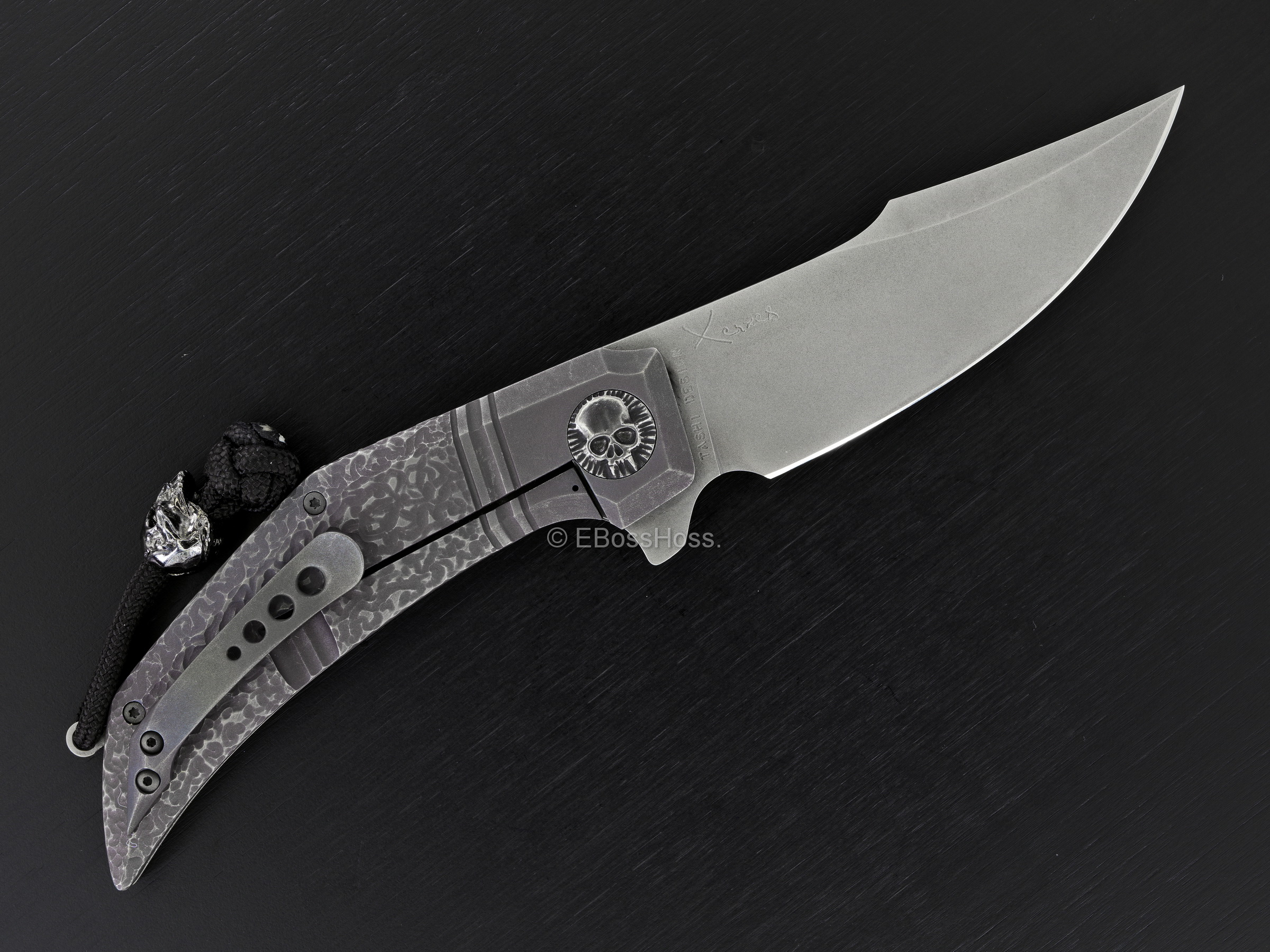 Gudy van Poppel Custom Engraved Xerxes Flipper Collaboration PROTOTYPE