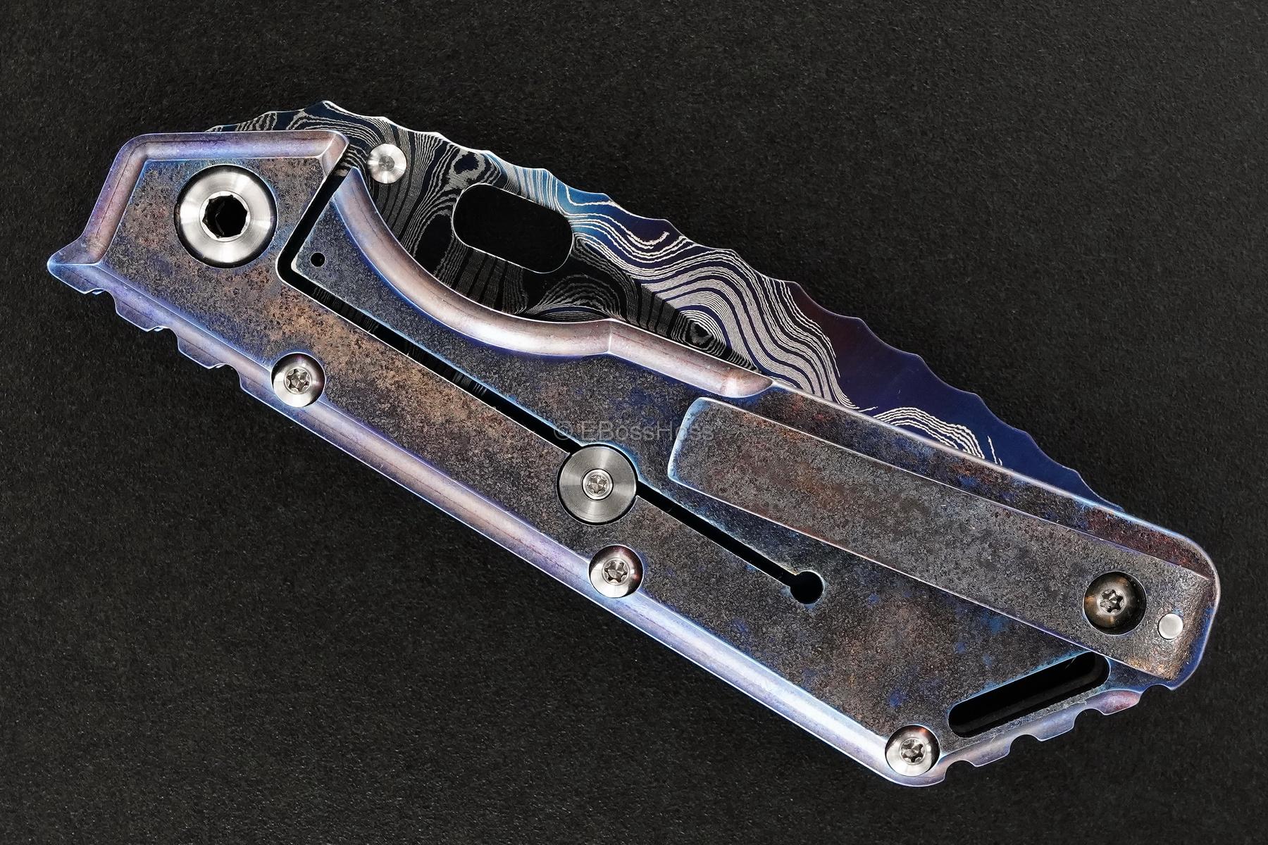 Mick Strider Custom (MSC) Cobalt-Damascus XL - Nightmare Tanto