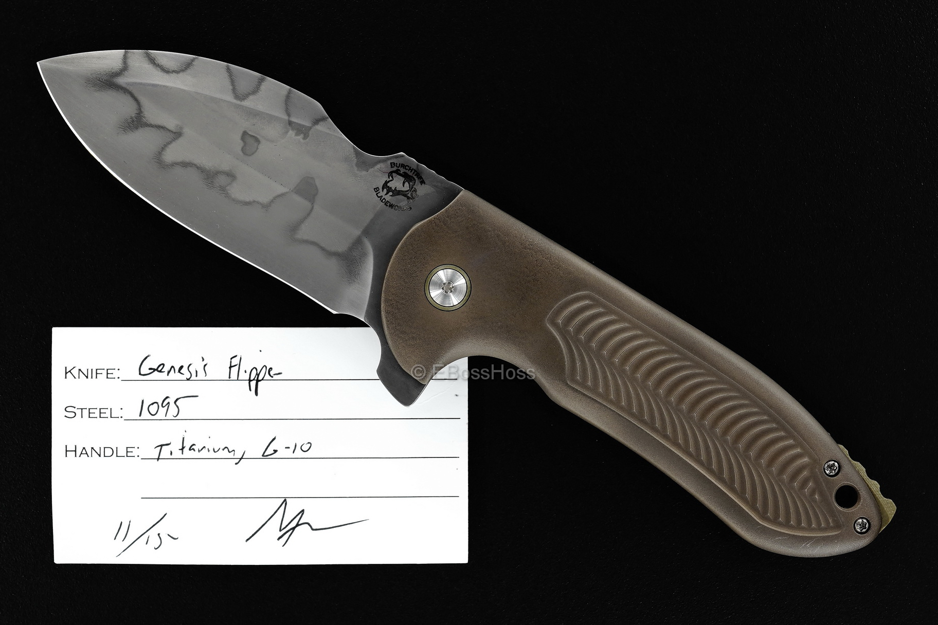 Michael Burch Custom Genesis Framelock Flipper