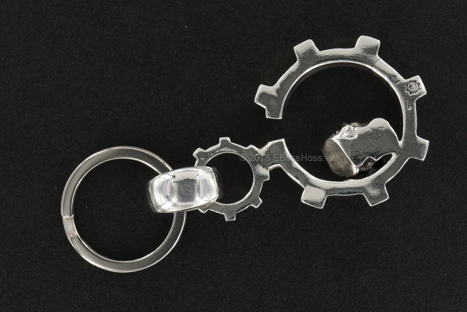 Starlingear Custom Sterling-Silver Slickster-Gear Keeper Key Chain
