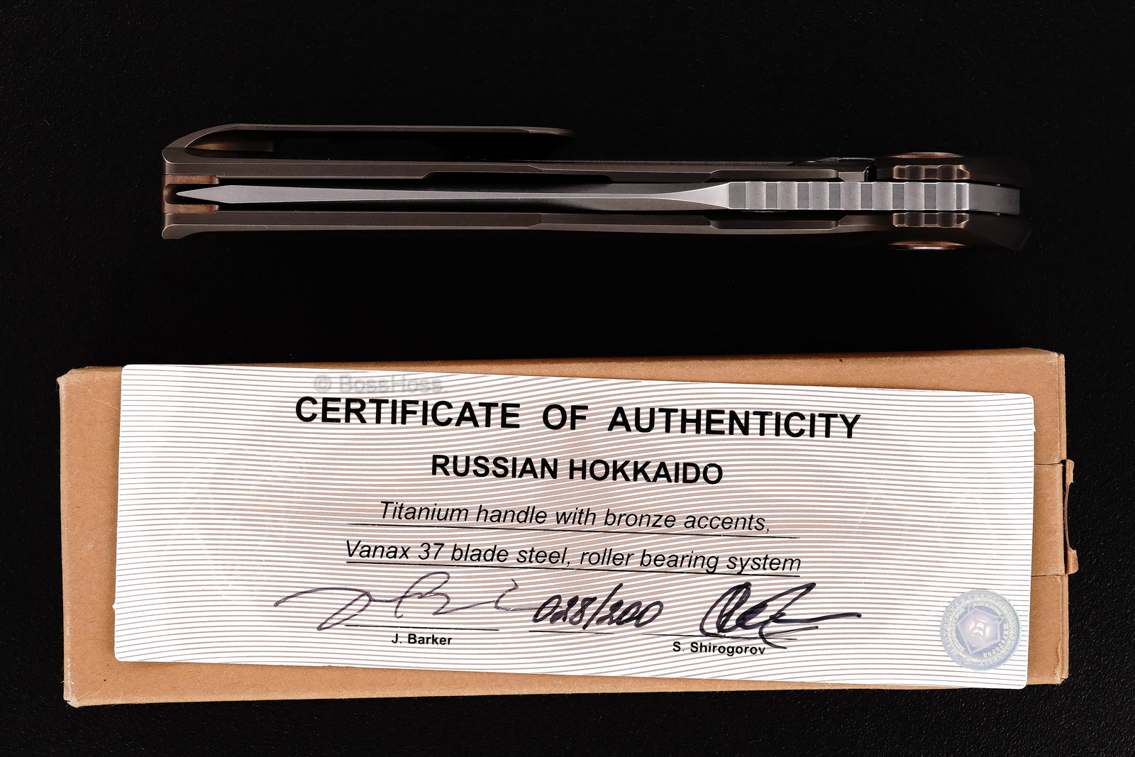 Sergey Shirogorov / John Barker Limited Edition Russian Hokkaido Flipper Collab
