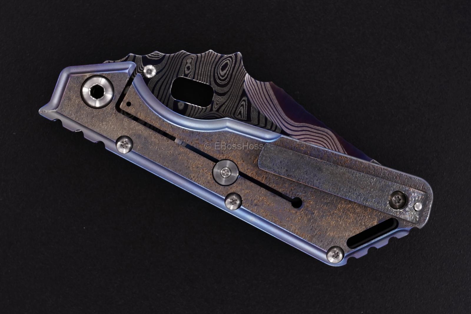 Mick Strider Custom (MSC) Cobalt-San Mai Damascus XL - Nightmare Dragon-grind
