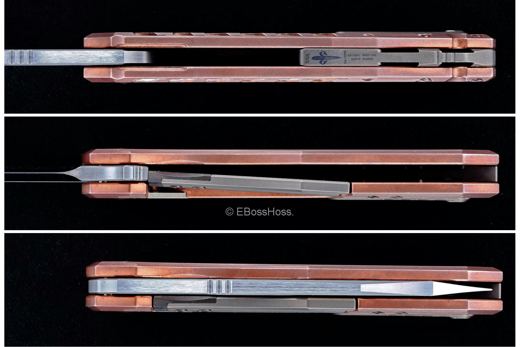 Tony Marfione / Microtech, Munroe / Deryk Munroe Copper Sigil Flipper