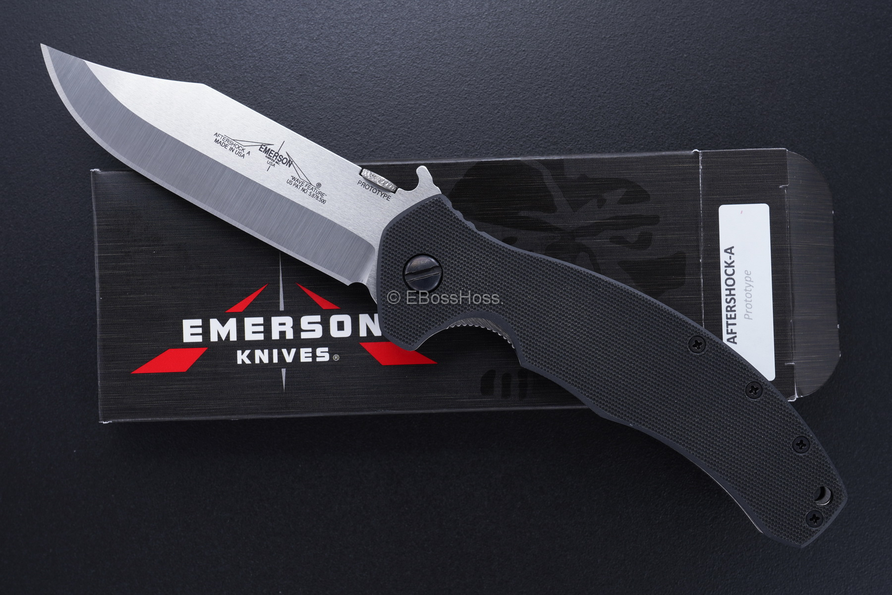 Ernie Emerson Aftershock-A Prototype Hand-ground by Ernie