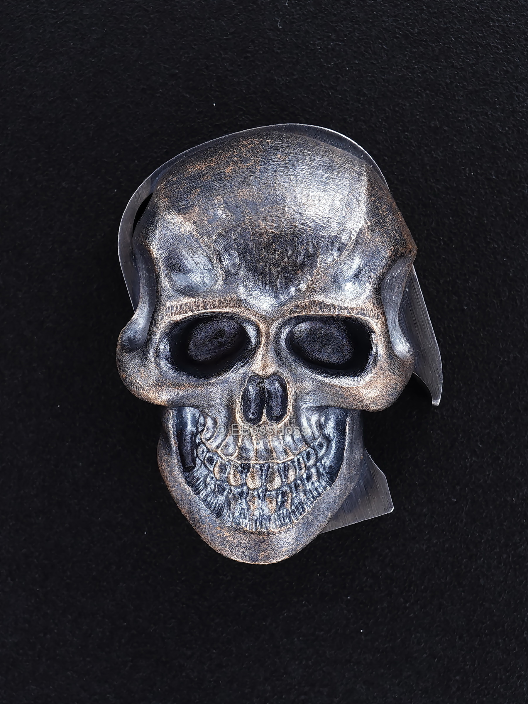 Steel Flame ''ONE'' Custom XXL Darkness Skull HATE PI -- by Derrick Obatake