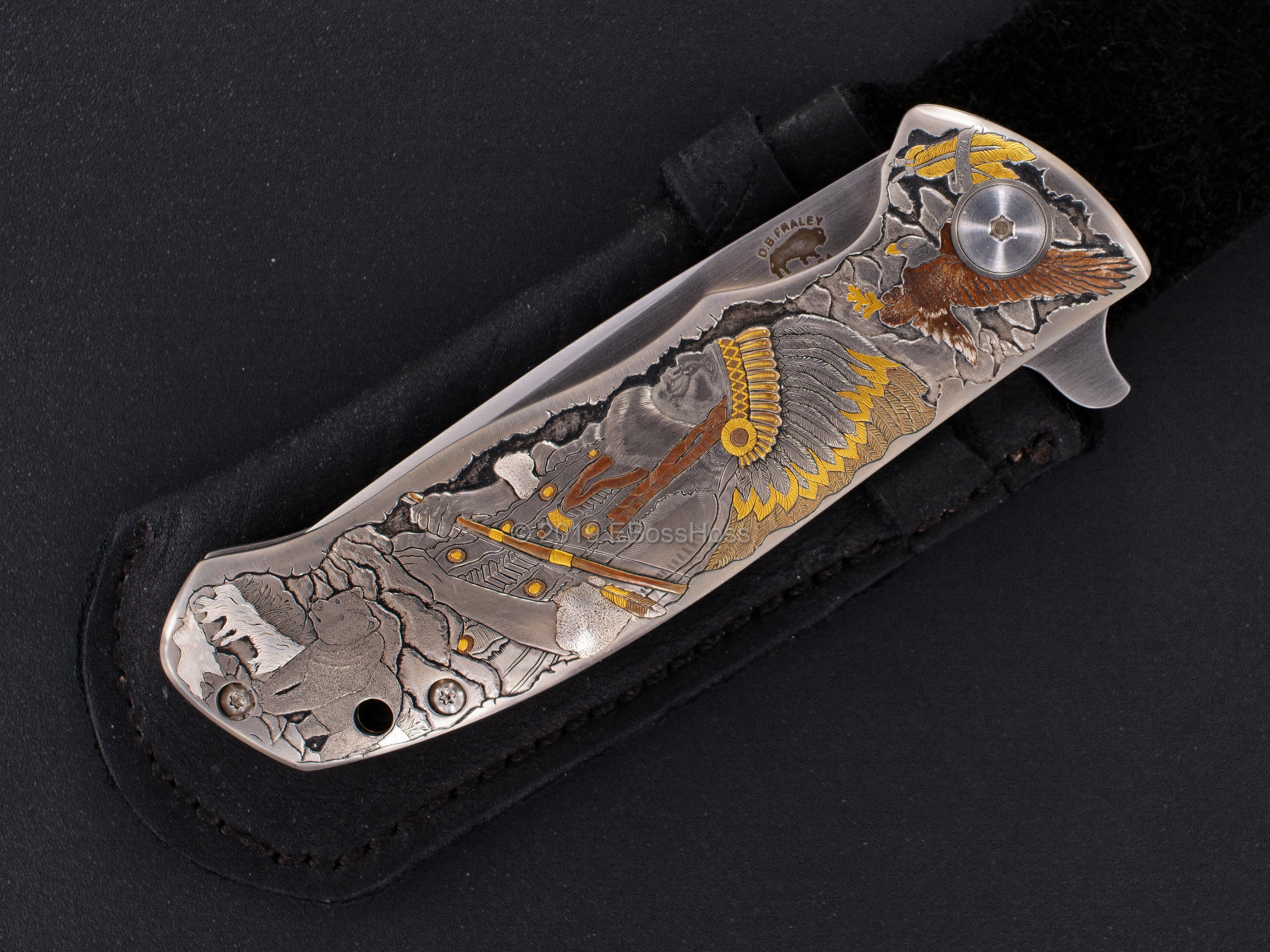 D.B. Fraley Custom Torrent Flipper - Masterfully engraved by Pedro Villarrubia