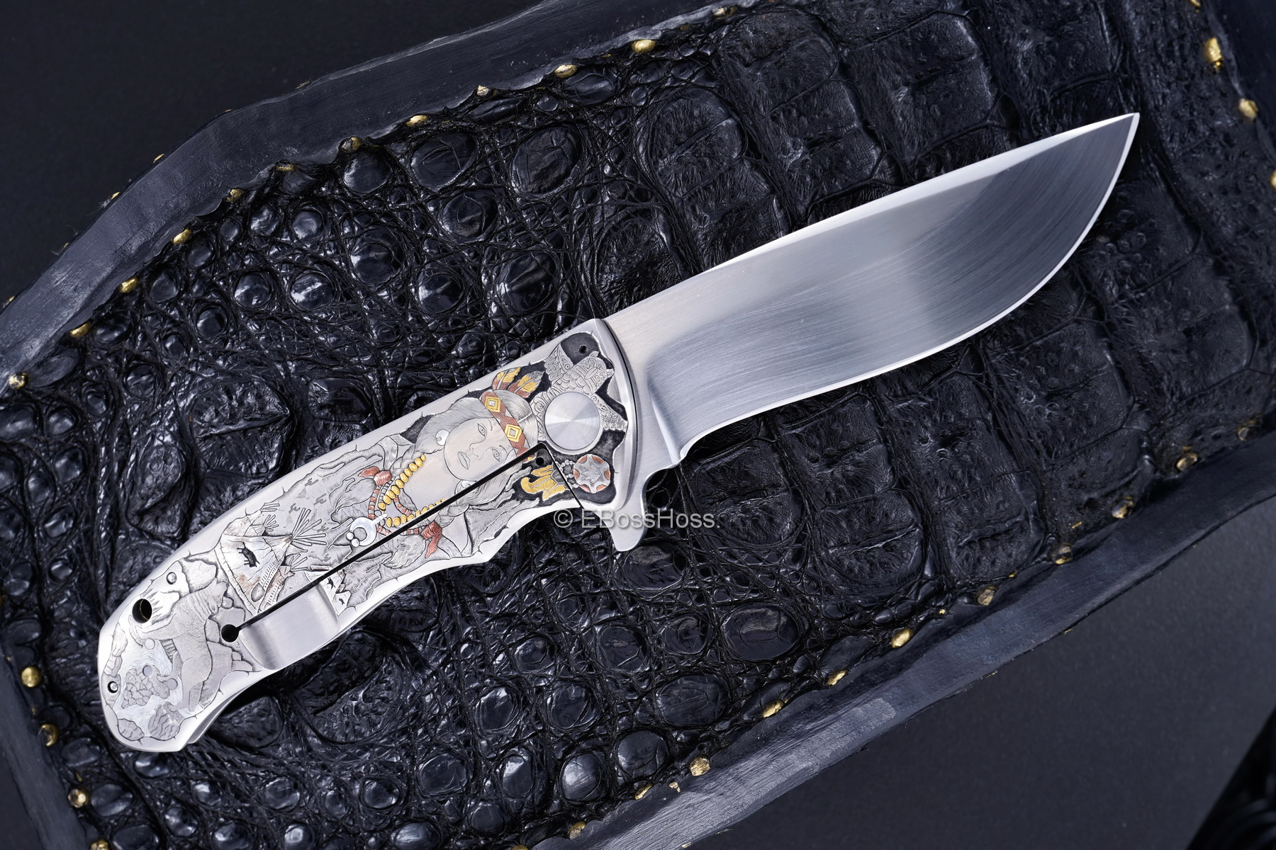 D.B. Fraley Gold'N Skulls XXL Deluge - Masterfully engraved by CJ Cai
