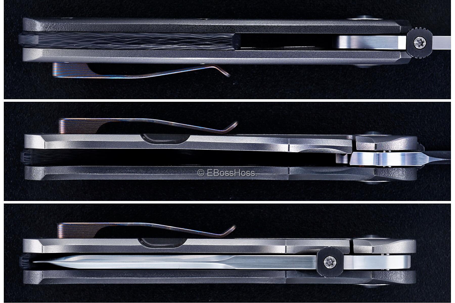 Sharpwerks by David Sharp Custom L&L (Lum & Loveless) Tanto Framelock Folder